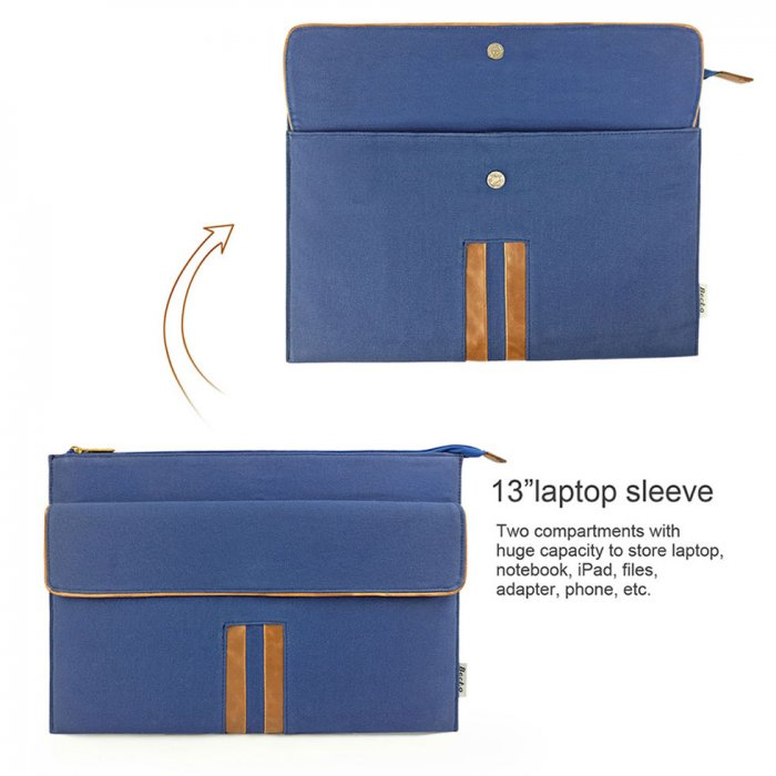 Cotton Canvas Briefcase Sleeve