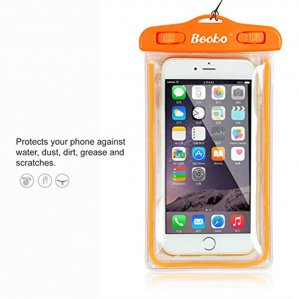 "Becko 5.5"" Orange Waterproof Case Pouch Waterproof Wallet Bag"