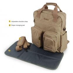 Multi-functional Diaper Backpack with Changing Pad