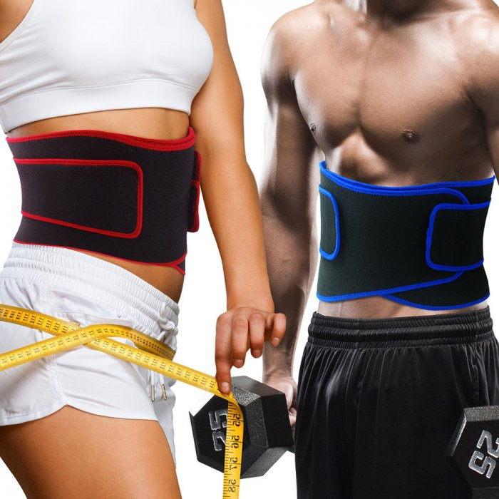 Becko Red Waist Trimmer Belt / Weight Loss Ab Wrap