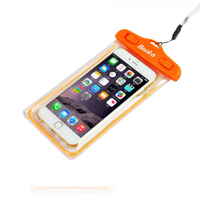 "5.5"" Fluorescent Waterproof Cell Phone Pouch"
