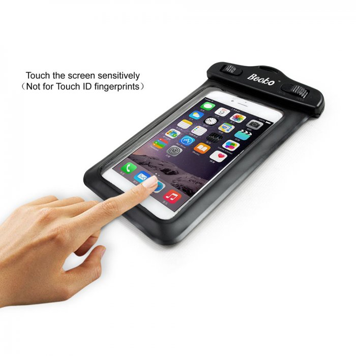 "Becko 5.5"" Black Waterproof Case Pouch Responsive Front and Back"
