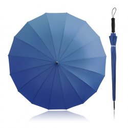 Becko 47 Inches Blue Auto Open Stick Umbrella with 16 Ribs