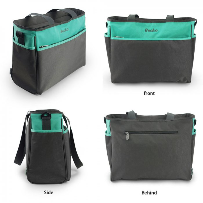 Diaper Bag with Changing Pad & Insulated Bottle Pocket