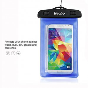 "Becko 4.7"" Blue Waterproof Cell Phone Case Pouch Dry Bag Wallet"