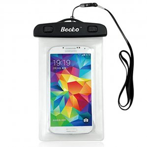 "Becko 4.7"" White Waterproof Cell Phone Case Pouch Dry Bag Wallet"