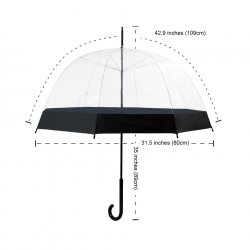Becko Totes Light Ladies Kids Clear Elegant Bubble rain Umbrella