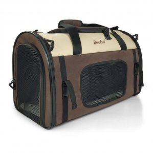 Becko Expandable Foldable Pet Carrier with Padding & Extension