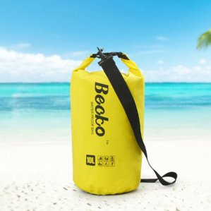 Becko Yellow Dry Bag, Waterproof Case Include Shoulder Strap