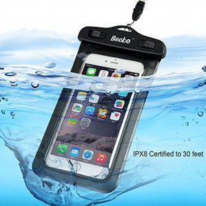"Becko 4.7"" Black Waterproof Cell Phone Case Pouch Dry Bag Wallet"
